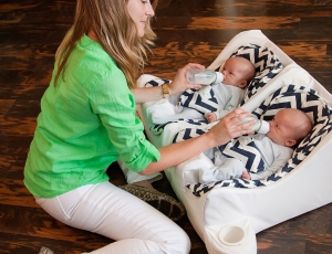 Gallery Twin Baby Feeding System Table For Two